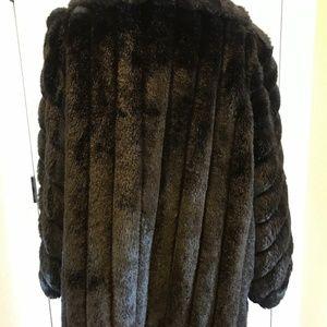 ba41e3fc0 American Standard Jackets & Coats - American Signature Black Faux Fur Coat  Made in USA